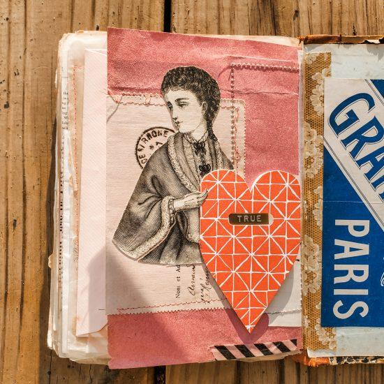 Valentines Day Art Journal Spread