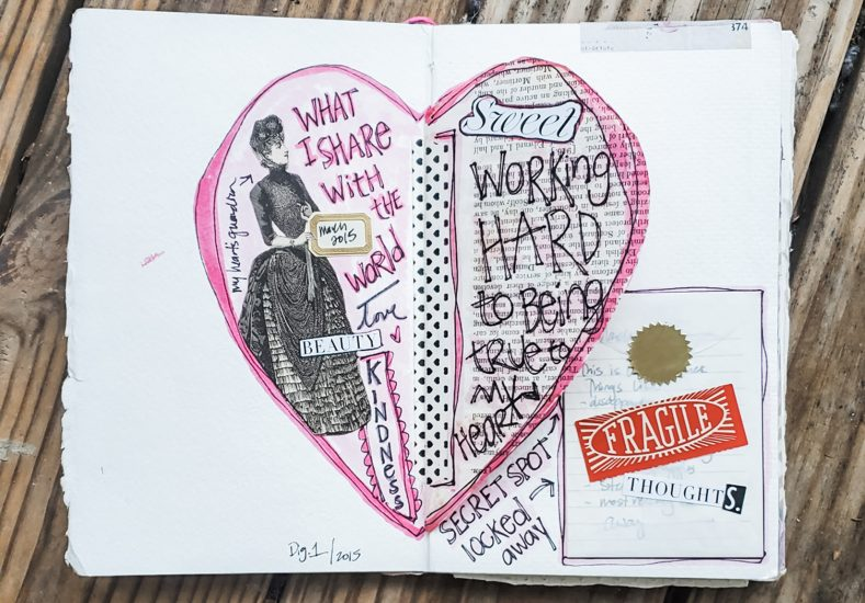 Interactive Heart Journal Spread
