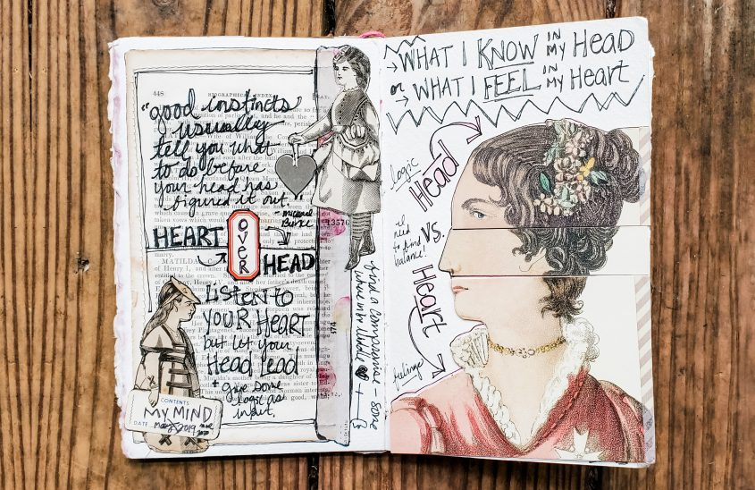 Journaling Spread: Head Vs. Heart